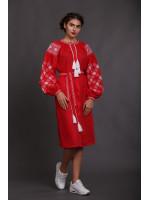 Сукня «Вечірня зоря» червоного кольору