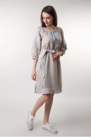 Платье «Сказочные сны»  с голубой вышивкой
