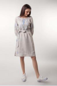 Сукня «Казкові сни» з блакитною вишивкою