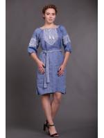 Платье «Твори мир» цвета джинс
