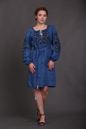 Сукня «Квітковий сад» кольору індиго