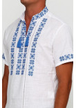 Вишиванка «Зорі» біла з вишивкою синього кольору КР