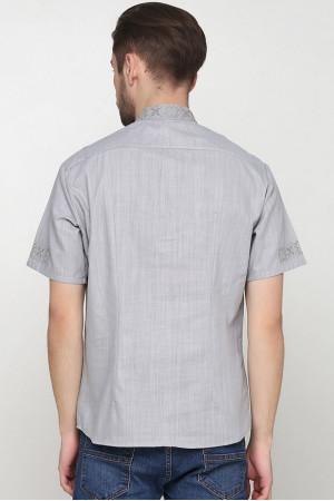 Вишиванка «Зорі» сіра з вишивкою сірого кольору КР