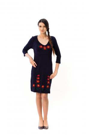 Платье «Маки 3D»