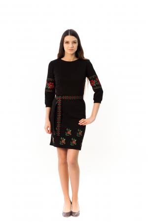 Сукня «Валенсія» з вишивкою червоного кольору
