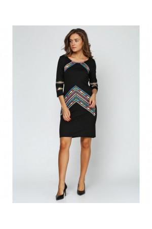 Платье «Геометрия» черного цвета