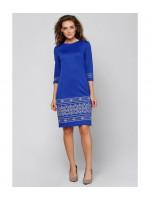 Платье «Стефания» голубого цвета
