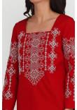 Вишиванка «Радослава» червона з вишивкою білого кольору