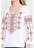 Вишиванка «Радослава» біла з вишивкою червоного кольору