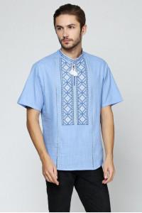 Вишиванка «Котигорошко» блакитна з вишивкою білого кольору КР