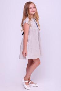 Сукня для дівчинки «Благовида» бежевого кольору