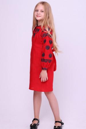 Сукня для дівчинки «Гафійка» червоного кольору
