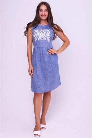 Платье «Густава» цвета джинс