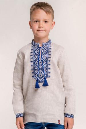Вишиванка для хлопчика «Всеслав» бежевого кольору