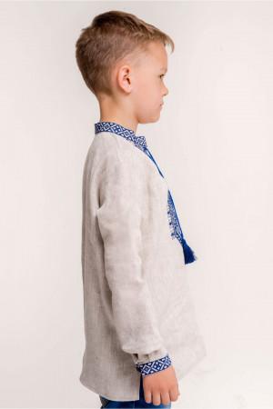 Вышиванка для мальчика «Всеслав» бежевого цвета