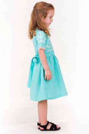 Сукня для дівчинки «Августа» бірюзового кольору