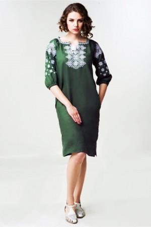 Платье «Болеслава» зеленого цвета