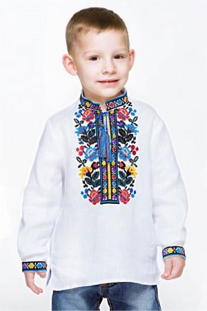 Вишиванка для хлопчика «Богдан» білого кольору