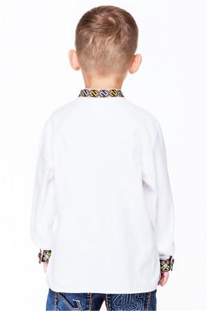 Вишиванка для хлопчика «Юрко» білого кольору