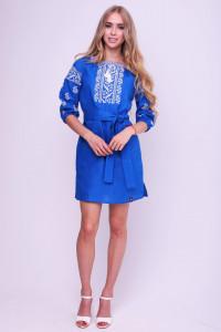 Платье «Гликерья» цвета индиго