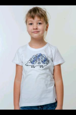 Футболка для дівчинки «Їжачок» білого кольору
