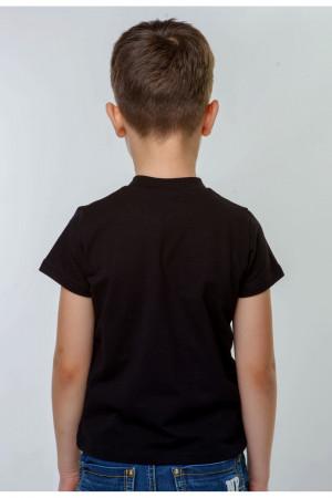 Футболка для хлопчика «Матвій» чорна з золотавим орнаментом