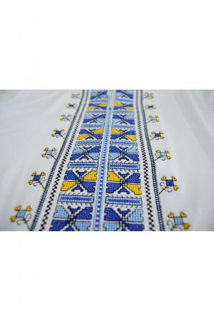 Футболка «Борислава» біла з синьою вишивкою
