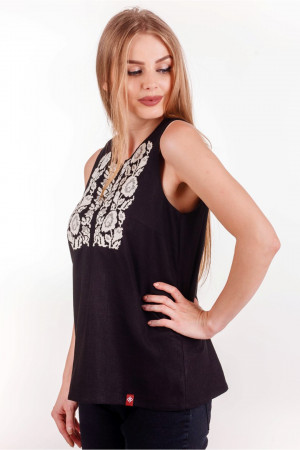 Вишита блуза «Діброва» чорного кольору