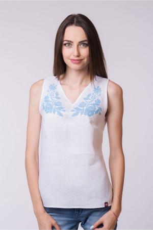 Вышитая блуза «Векла» белого цвета