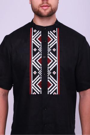 Вышиванка мужская «Сармат» черного цвета