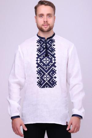 Вышиванка мужская «Гнат» белого цвета