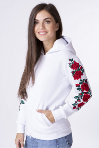 Худи «Лизавета» белого цвета