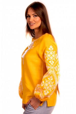 Вишиванка «Анфіса» жовтого кольору