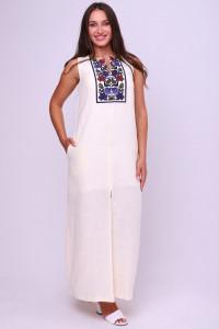 Платье «Воля» молочного цвета