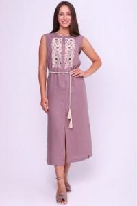 Платье «Божена» цвета мокко
