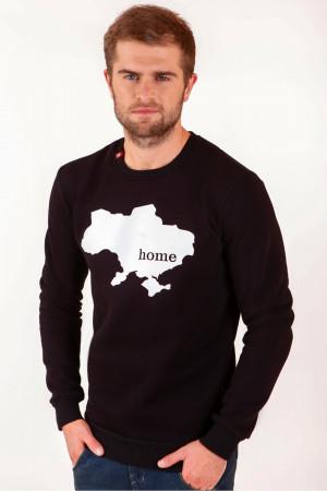 Мужской свитшот «Home» черного цвета
