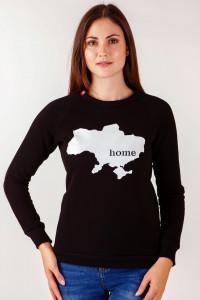 Світшот жіночий «Home» чорного кольору