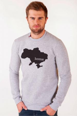 Мужской свитшот «Home» серого цвета