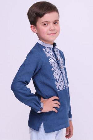 Вишиванка для хлопчика «Андрій» синього кольору