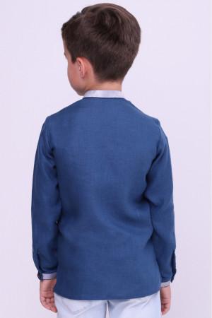Вышиванка для мальчика «Андрей» синего цвета
