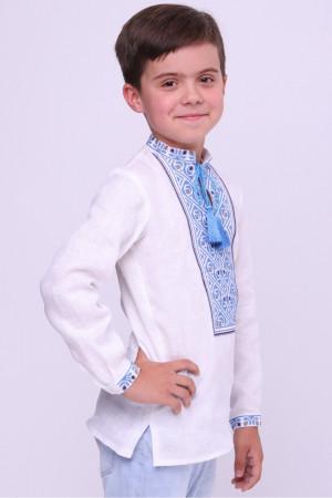 Вышиванка для мальчика «Глеб» белого цвета