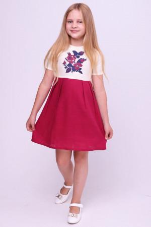 Платье для девочки «Ярина» бордового цвета