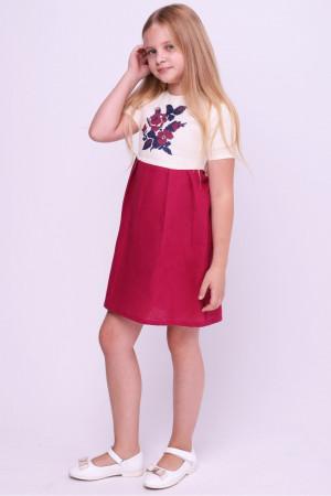 Сукня для дівчинки «Ярина» бордового кольору