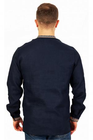 Вышиванка мужская «Яков» темно-синего цвета