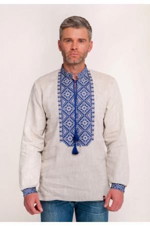 Вышиванка мужская «Ростислав» бежевого цвета