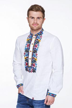 Вышиванка мужская «Мстислав» белого цвета