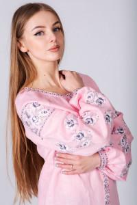 Вишиванка «Ірма» рожевого кольору