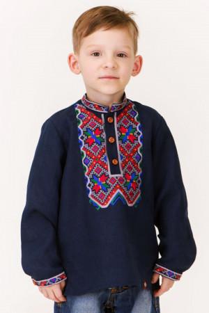 Вишиванка для хлопчика «Венжик» темно-синього кольору