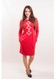Сукня «Зоряна» червоного кольору
