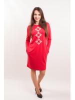 Сукня «Зоряне» червоного кольору